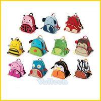 Cute Zoo Cartoon Animal Mini Oxford Kid Children School Bag Canvas Boy Girls Toddlers Zipper Backpack
