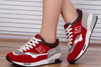 2014 Autumn net surface South Korea N word shoes female Korean tide thick soled sports shoes camouflage shoes shoes