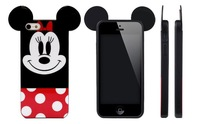 2pcs/lot Mickey Minnie Mouse Cartoon Cute 3D TPU Case Cover For Apple Iphone 6 4.7'' 4 4S 5 5S Free Shipping