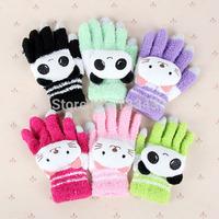 Free ShippingLovely Women Winter Warm Full Finger Minttens Girls Touch Screen Gloves