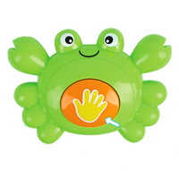 Free shipping Baylor educational toys for baby 0-1 year old green eco-friendly crab rattles, ms0015