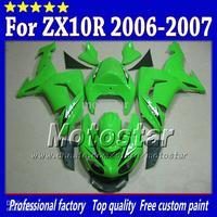 7 Gifts bodywork fairings for Kawasaki Ninja ZX-10R 2006 2007 ZX10R 06 07 ZX 10R glossy green custom fairing set sw101
