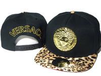 2014 new Free Shipping Black with Leopard Brim VERSA Snapbacks Adjustable baseball snapback cap High Quality golder logo hats