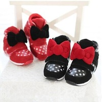 2014 winter new fashion Kids Children boots Girls bow wave point warm sneaker casual shoes Baby shoes