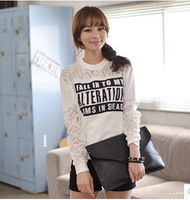 Lace Letter Printed Sweatshirt Autumn Winter Woman Hoodies Casual Women hoody Pullover Letter Printed Sweatshirts Sudaderas A7
