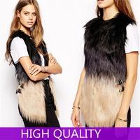 Elegant Ladies Faux Fur Vests Winter Sleeveless Warm Fur Vest ...