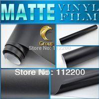 Germany Duty Free Matte Black Vinyl Car Wrap Sticker High Quality With Bubble Free Size: 1.52 m x 30 M Free Shipping