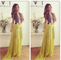 Free Shipping 2014 Vestidos De Fiesta A Line V Neck Chiffon Backless Evening Dresses Women Dresses Party Dress MDf0030