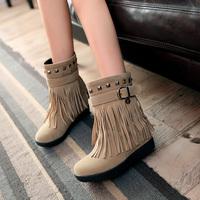 Women autumn buckle ankle boots rivet preppy style shoes