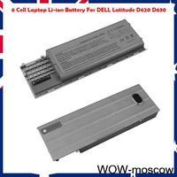 6 Cell 11.1V 4400mAh Laptop Li-ion Battery For DELL Latitude D620 D630 New