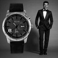 New Business watches Men Luxury Brand Leather Strap Trendy Casual Quartz Watch Sports Military Fashion Clock Relogio Masculino