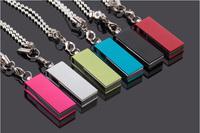 10pcs wholesale Mini 8GB16G 32GB GB USB2.0 Swivel Metallic fashion Flash Drive Bright Memory Stick Pen