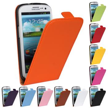 Мода кожа верхний и нижний открытый защиты с флип стенд чехол крышка чехол для Samsung Galaxy S3 SIII S 3 III i9300 я 9300