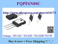 Free Shipping FQPF6N80C TO-220F 10pcs/lot