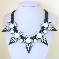 2014 New Arrival Matte Black Spray- painted Steampunk Spike choker Necklace Statement Jewelry for Women KK-SC711 Retailer