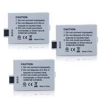 wholesale 3Pcs LP-E5 LPE5 LP E5 Li-ion Battery For Canon EOS 450D 500D 1000D Camera+Free shipping