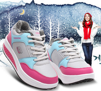 winter sneakers thermal fur with cotton-padded women shoes fashionable casual elevator platform sneakers snowshoes for girls