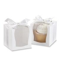 2014  NEW DESIGN Single Wedding 9x9 Cupcake Boxes/Wedding Gift Box/ Favor Box with Insert