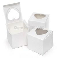2014  new style single cupcake box Heart Shaped Window single PVC cupcake boxes