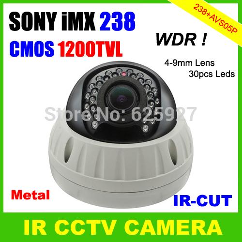Surveillance Video System 1200TVL CMOS Sensor Sony IMX238 Support WDR Defog 3DNR OSD Menu Dome Outdoor IR CCTV Camera(China (Mainland))