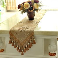 new arrival good quality jacquard chenille table runner