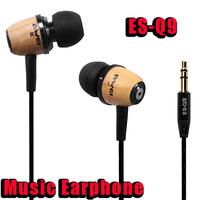 NEW High Quality Brand Earphone ES Q9 Super Bass Noise Isolation In Ear Metal Music Headphone 3.5mm plug Earphones & Headphones