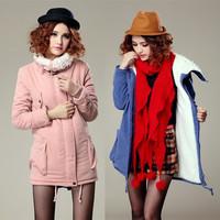 2014 long coat women cotton parkas long section thick cotton cashmere winter coat women high quality