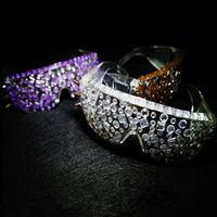 New Fashion Personalized Unique dj ds Singer Diamond Rivet glasses