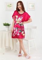 2014 new style silk pajamas , Ms. Siamese / silk nightgown pajamas tracksuit variety of sexy big yards