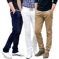 2014 new fashion Men casual pants Korean fashion casual 100% cotton Trousers / size 29-35 / 11 colors free shipping