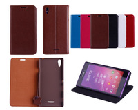 T3 Pouch 100% Genuine Leather Case For Sony Xperia T3 New 2014 Lychee leather stand phone case cover For T3 - Free Shipping