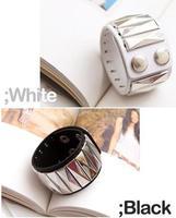 Wholesale 2014 New Fashion Casual Punk  Rivet pyramid wide Leather Bracelets Bangles for Women men Charm Bracelet  MD1174
