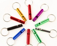 aluminium outdoor survival whistle Aluminum Dog Whistle Keychain,Pet Training Whistle free shipping