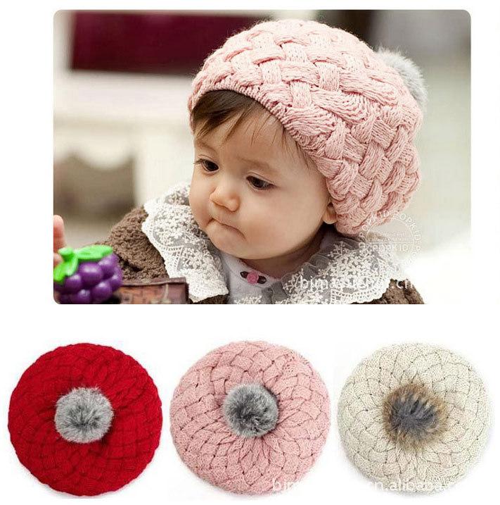 Kids Girls Baby Handmade Hat Crochet Knitting Beret Hats Caps lovely Ice cream Winter Beanie hat winter Girls & Boys Cap hat(China (Mainland))