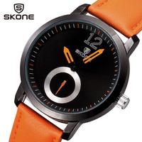 Men watch luxury brand quartz analog dial sport watch 2014 leather strap brief elegant male