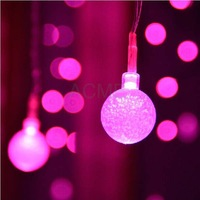 3x1M 104 Bulb 16 Bubble Ball LED String Strip Holiday Christmas PARTY Wedding Light Garlands EU/US/UK/AU Lamp Pink/Purple/RGB