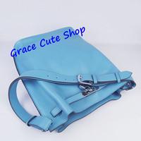 Lady Casual Bucket Bag Brand Genuine Leather Shoulder Bag Silver Lock&Key Top Quality Original Package (Dust Bag,Card) #H2804