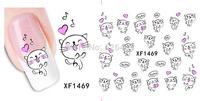 Fashion 1 piece 1Sheet 3D Design Tip Nail Art Nail Sticker Nail Decal carving white snow flower nail tools 1469