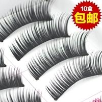 Free Shipping 10Pair/Lot Thick False Eyelashes make up Mink Eyelash Lashes Voluminous Makeup F8 Tail Winged