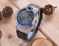 Hot Newest Military Lighter Watch Novelty Man Quartz Sports Refillable Butane Gas Cigarette Cigar Men Wristwatches SV007364