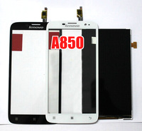 Free shipping Free shipping Original lenovo A850 touch screen +display LCD screen Black or White