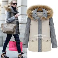 New Arrival Winter Women Coat Hooded Pocket Zipper European&American Style Casual Thick Long Parka KB232