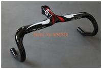 most road carbon handlebar Full carbon fiber road bike 3K carbon fiber pattern bent bar bicycle parts 400/420/440 mm