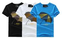 2014 latest men's short-sleeved T shirt summer wholesale fashion clothing supply round neck cotton T-shirt