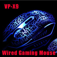 VP-X9 Original Brand BITE BLOOD Professional Computer Gaming Mouse 6 Buttons 2800 DPI Optical USB Wired Backlight Gamers Mice