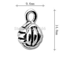 Wholesale Fashion free shipping Anti-Silver originality worlds ball charms i love sport jewelry