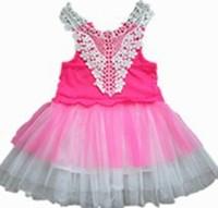 2014 summer new girls dress party dress Gradient Dress lace veil yarn vest dress girls dress children princess tutu dress