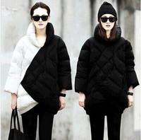 2013 new winter fashion white block decoration Mixed colors women down coat