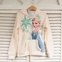 Frozen Elsa Anna Baby Girls Hoodies Jacket Fall Winter Children Long Sleeve Elsa Anna Cartoon Thick Sweatshirt  Coats Outwear