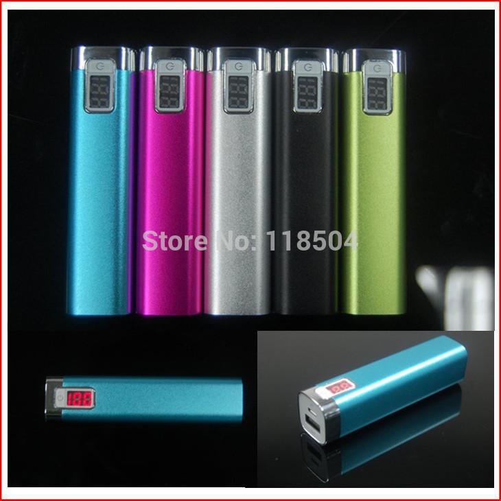 Ups Free Shipping DOCA 2600mAh Portable Mini USB External Backup Battery Power Bank with retail box for iphone and samsung(China (Mainland))
